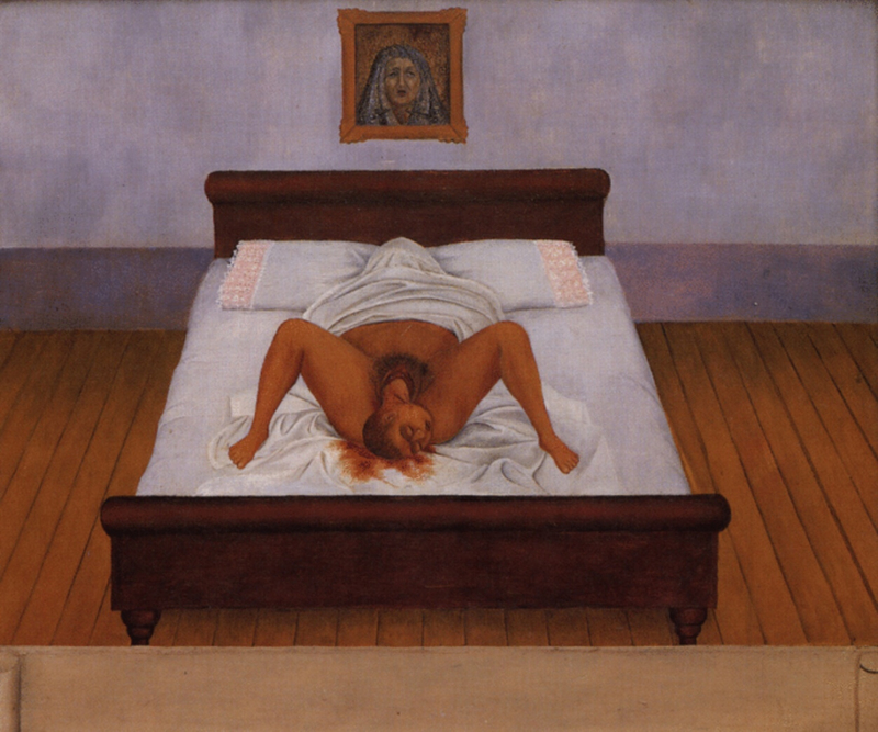 Frida Kahlo, My Birth, 1932, private collection
