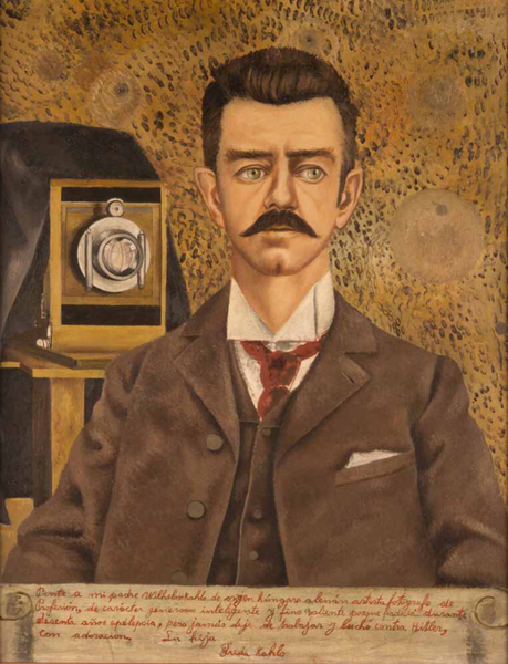 Frida Kahlo, Portrait of my Father, 1952, Museo Frida Kahlo (Casa Azul), Mexico