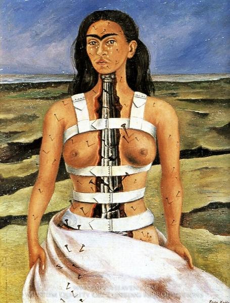 Frida Kahlo, The Broken Column, 1944, Museo Dolores Olmedo, Mexico