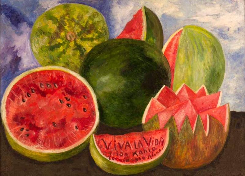 Frida Kahlo, Viva la vida, 1954, Museo Frida Kahlo (Casa Azul)