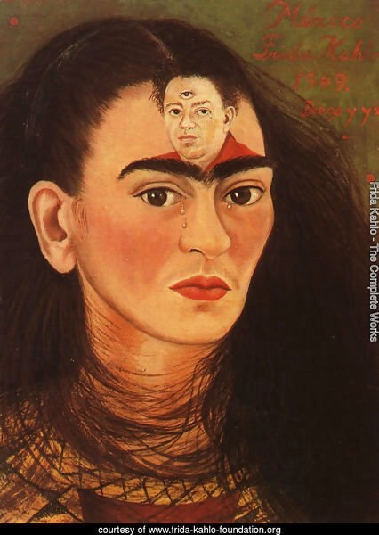Frida Kahlo, Diego and I, 1949, Collection of Mary-Anne Martin/Fine Arts, New York